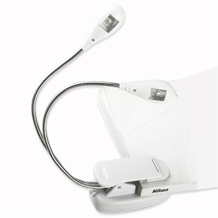 מנורת קריאה קליפס בעלת 2 ראשים