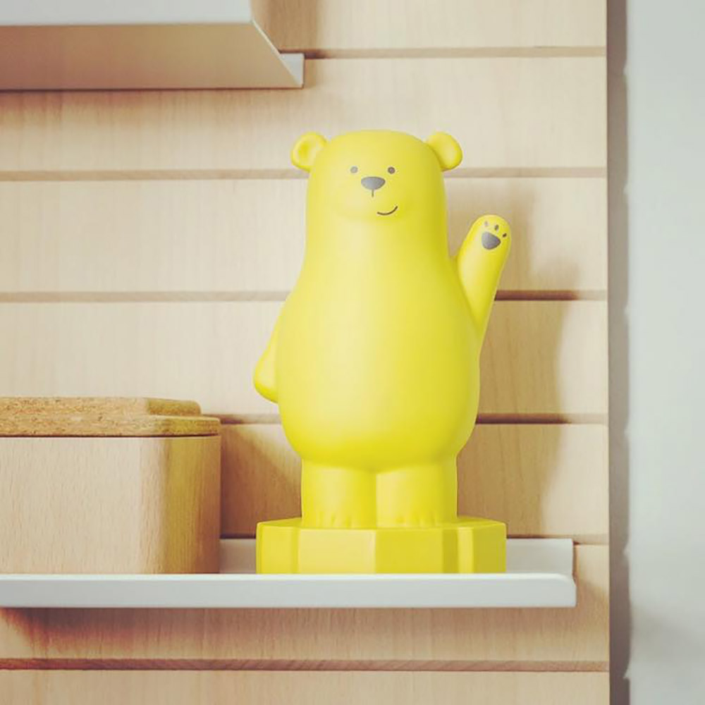 מנורת לילה LED דב צהוב Bear Lou