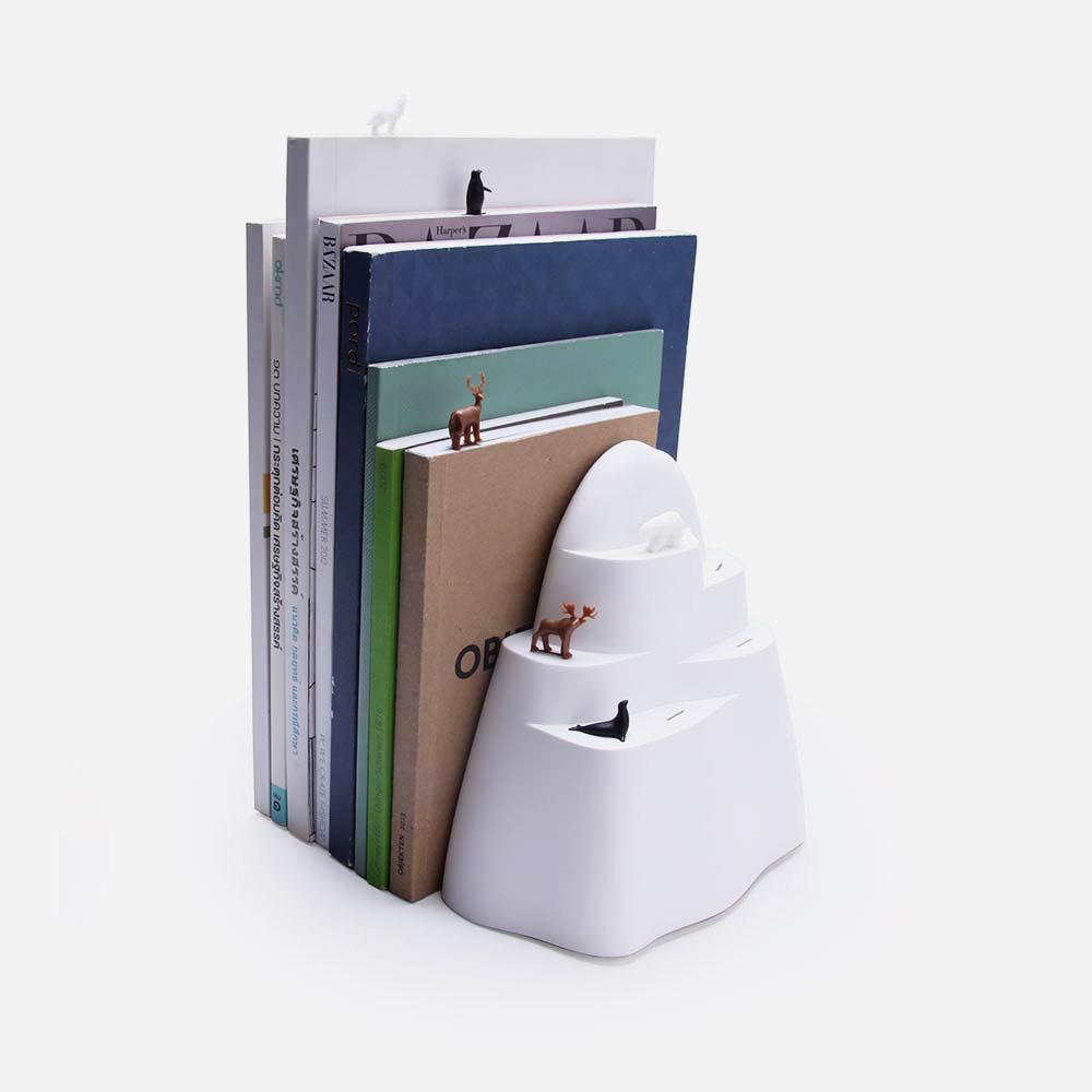 תומך ספרים וסימניות קרחון Book Iceberg