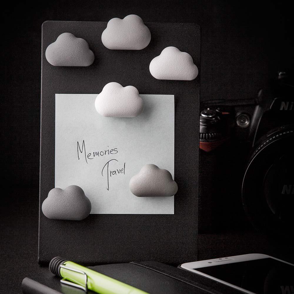 סט של 6 מגנטים בצורת עננים