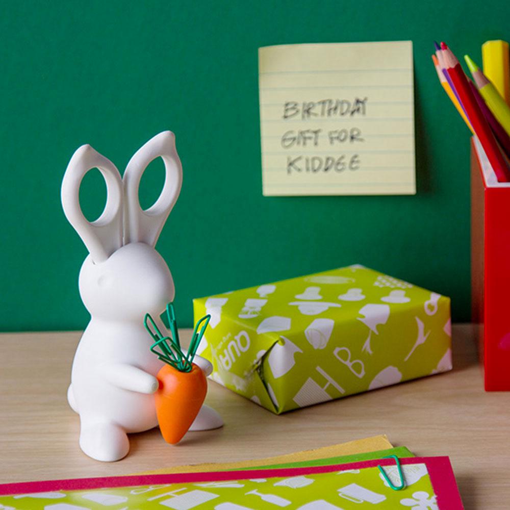 מעמד משרדי ארנב לבן Desk Bunny