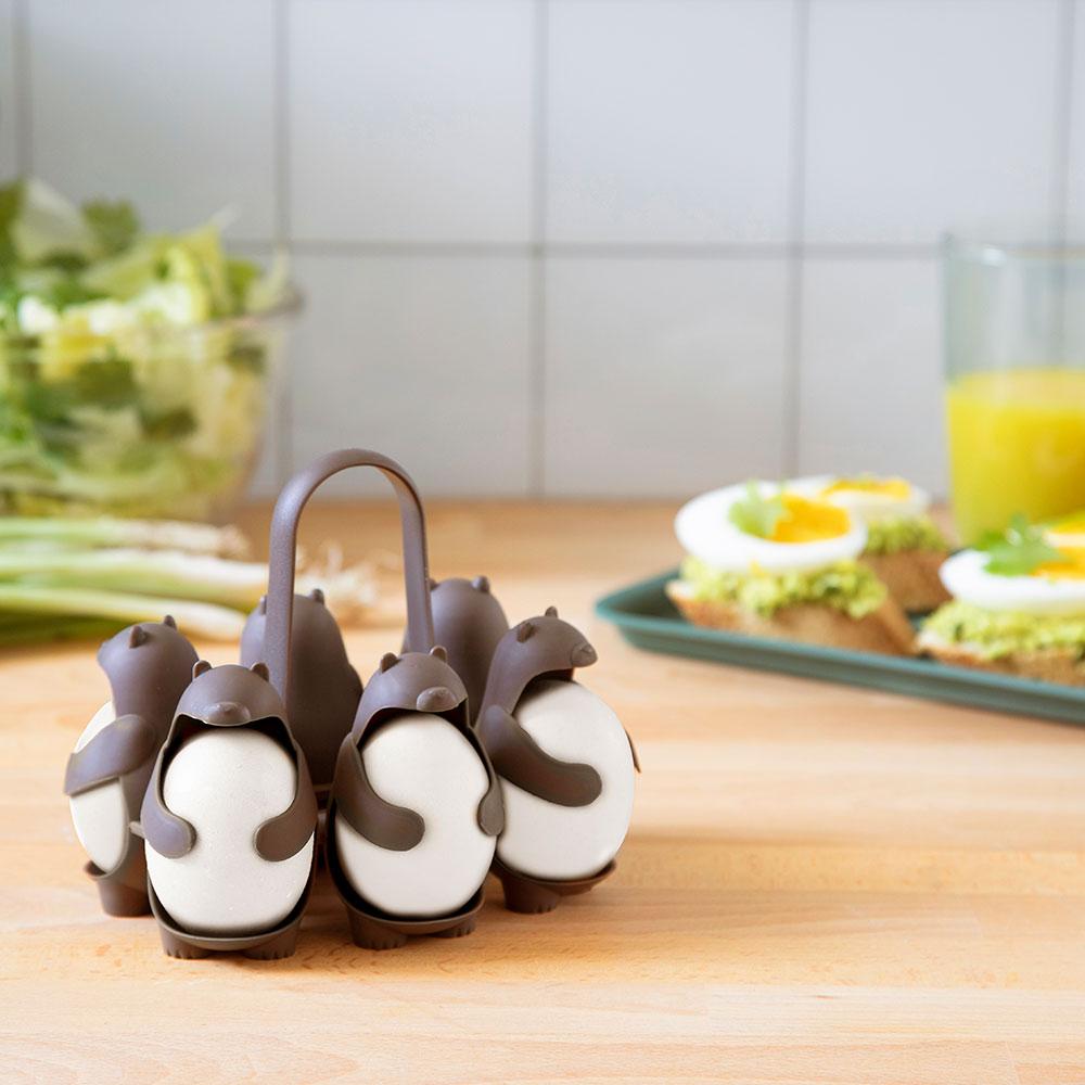 מתקן לבישול ולהגשת ביצים קשות Eggbears