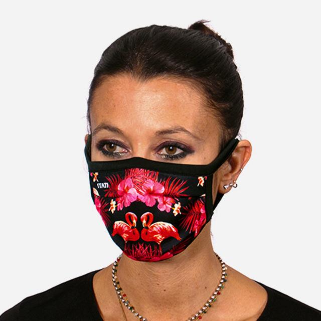 מסיכת פנים מעוצבת - פלמינגו