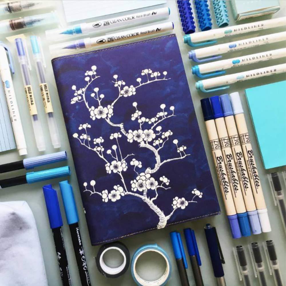 מחברת A5 מהודרת Flower Wow Ceramic Blue
