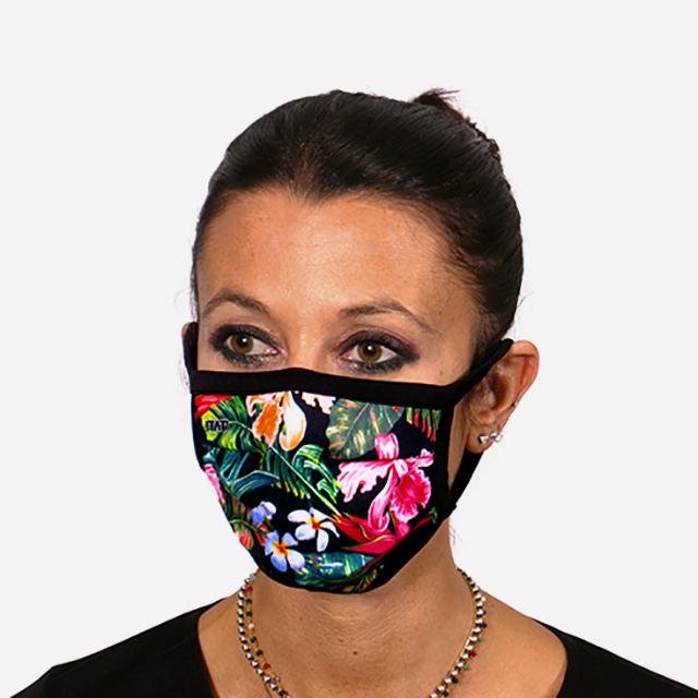 מסיכת פנים מעוצבת - פרחים