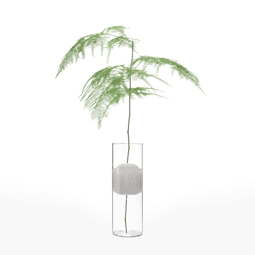 אגרטל זכוכית לפרח אחד LAVA