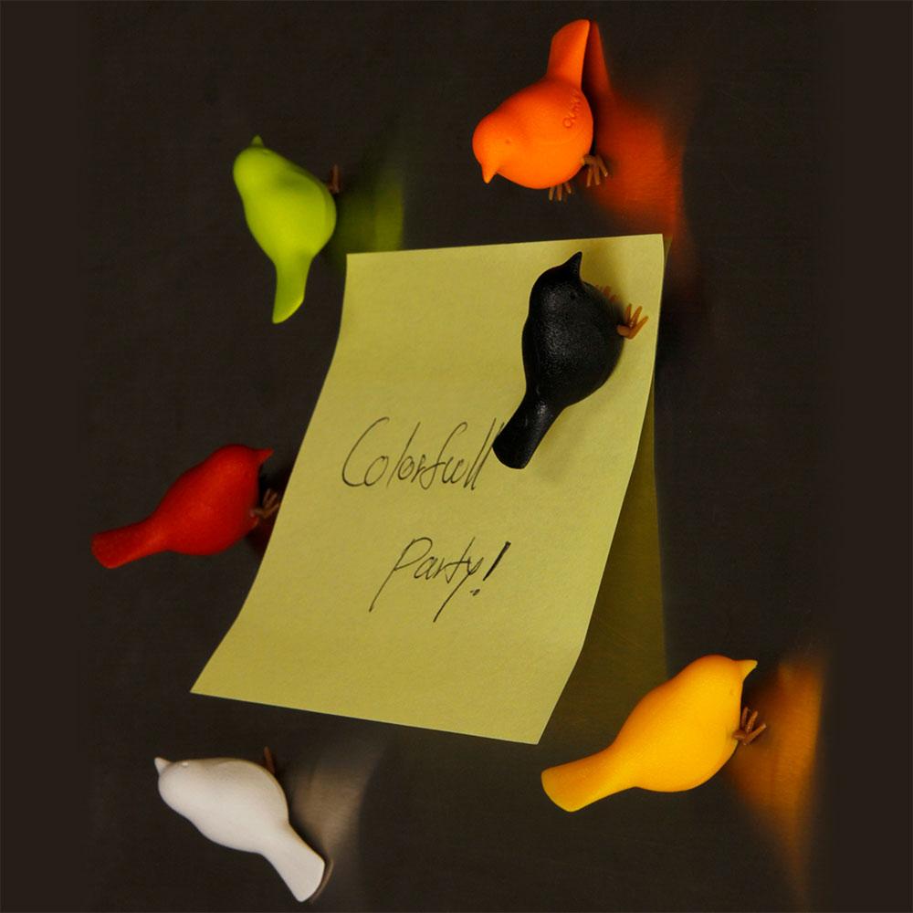 סט 6 מגנטים צבעוניים ציפור דרור