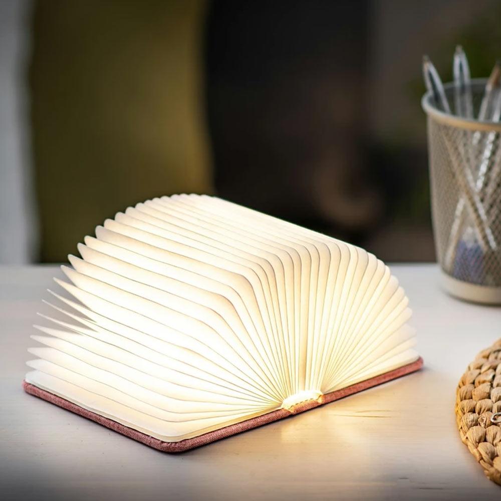 מנורת ספר חכם קטן - בד אפור אורבני