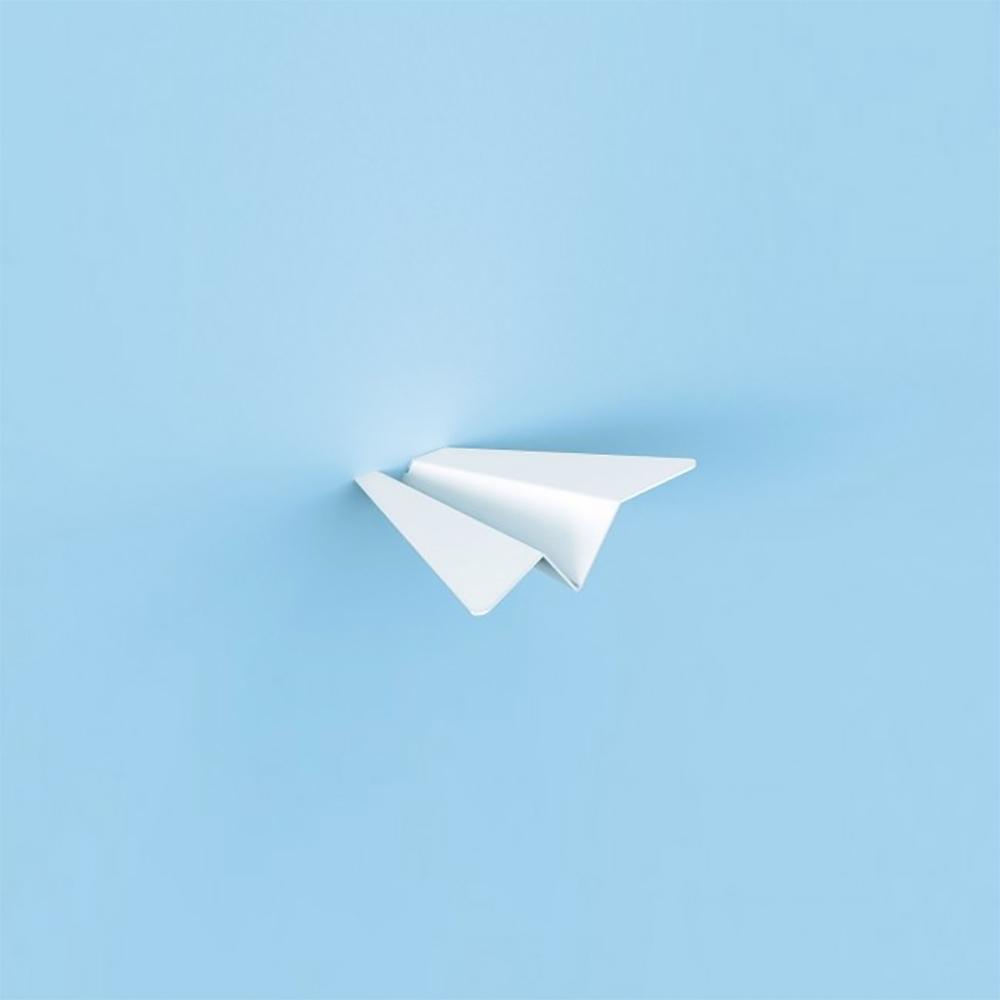 סט מתלים בעיצוב מטוס נייר  Paper Planes