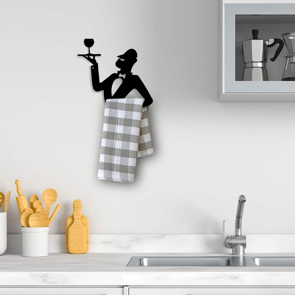מלצר יין - מתלה למגבת מטבח