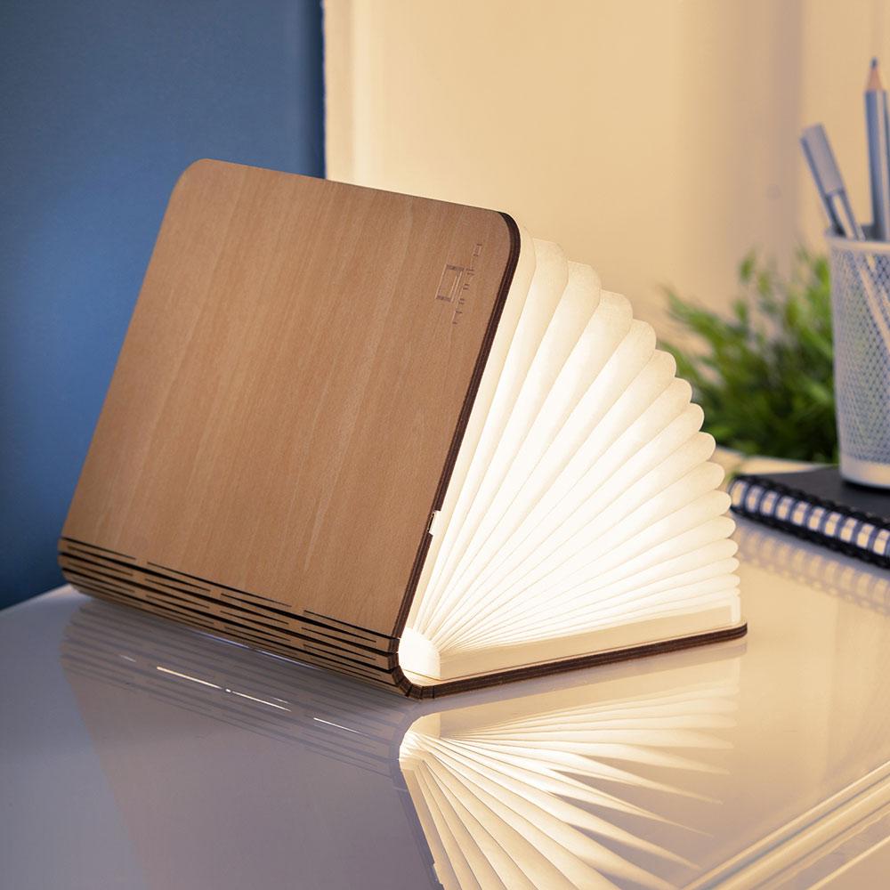 מנורת ספר חכם - עץ מייפל