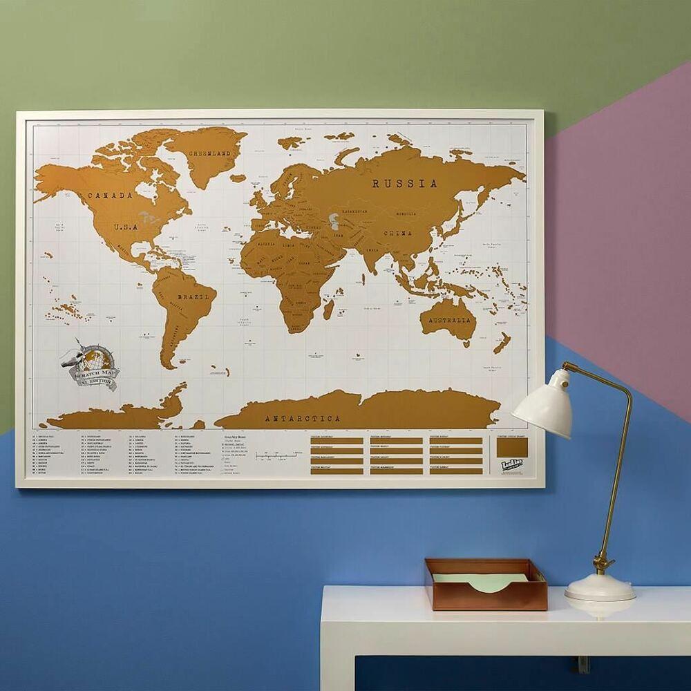 מפת עולם מתגרדת XL