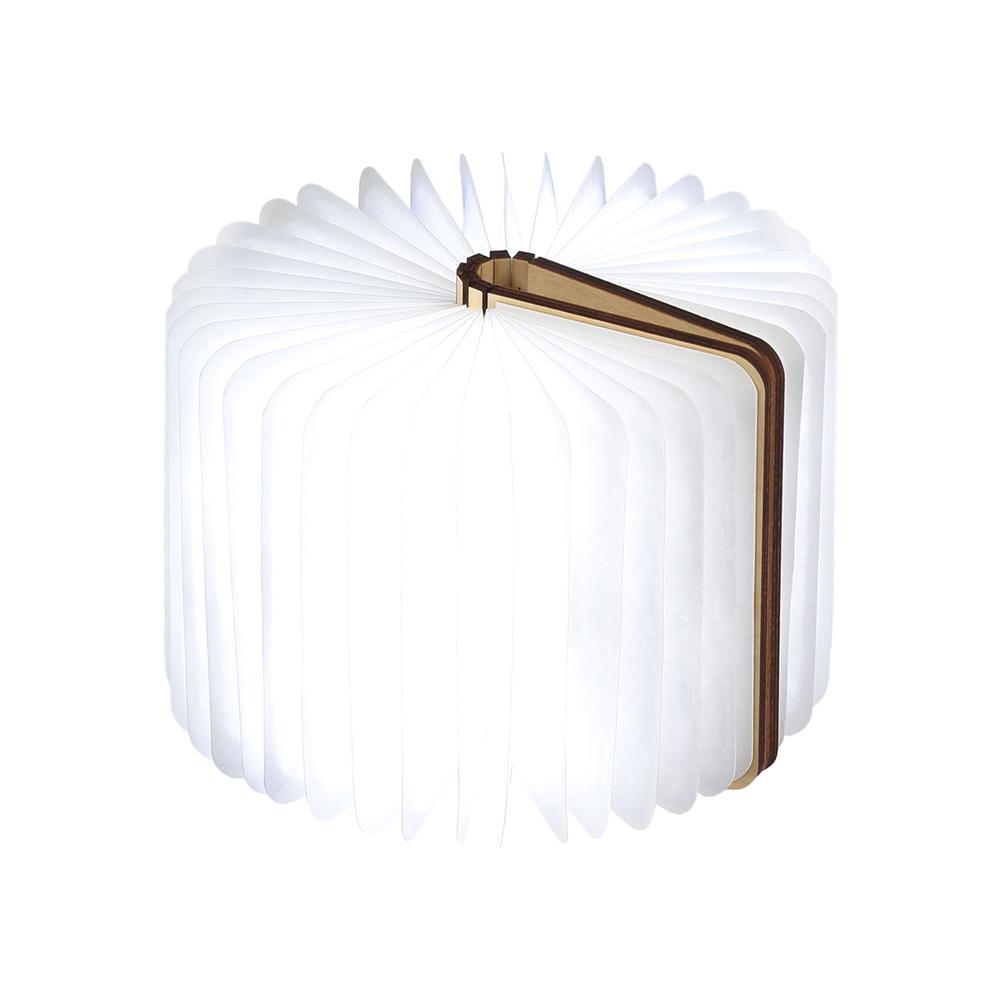 מנורת ספר חכם קטן - עץ אגוז