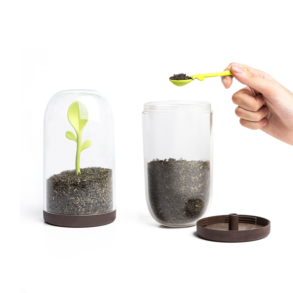 נבט מיכל אחסון עם כפית Sprout Jar