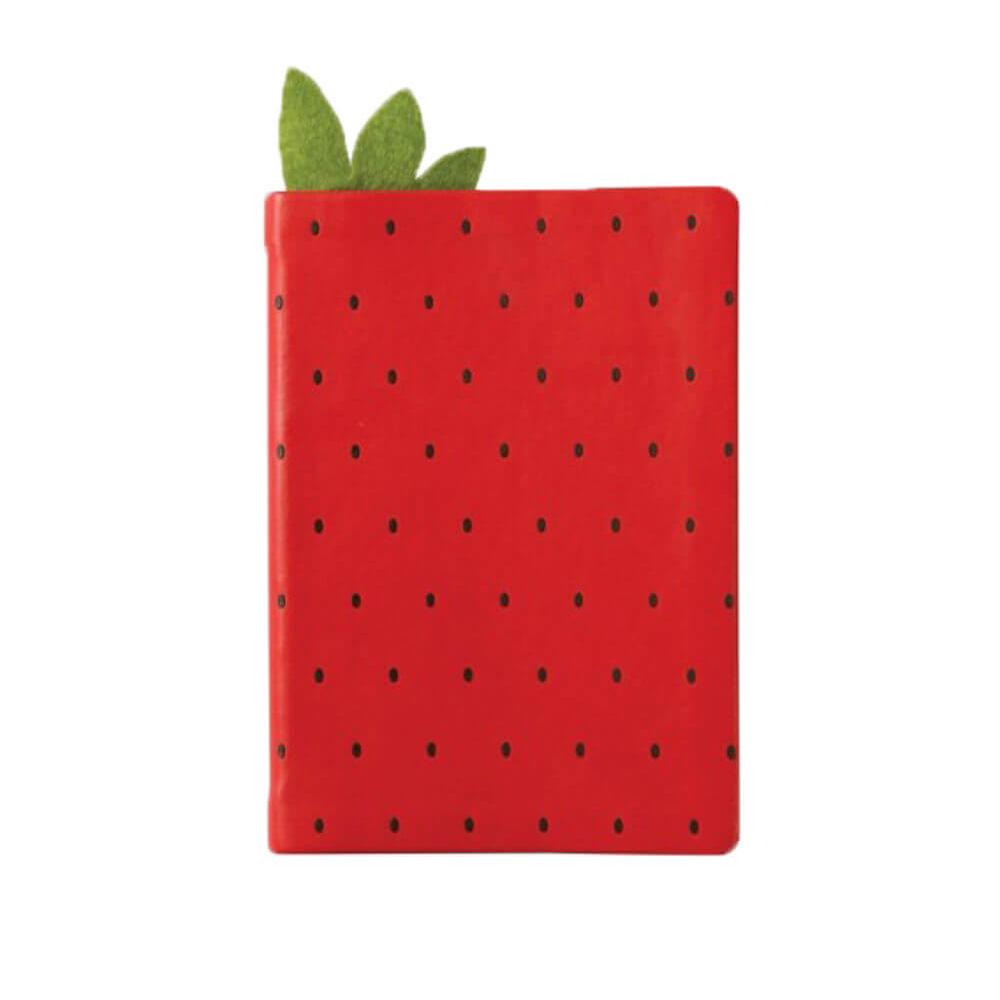 מחברת A6 מעוצבת תות שדה Juicy Strawberry