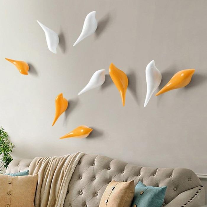 מתלים ציפורים - סט של 4