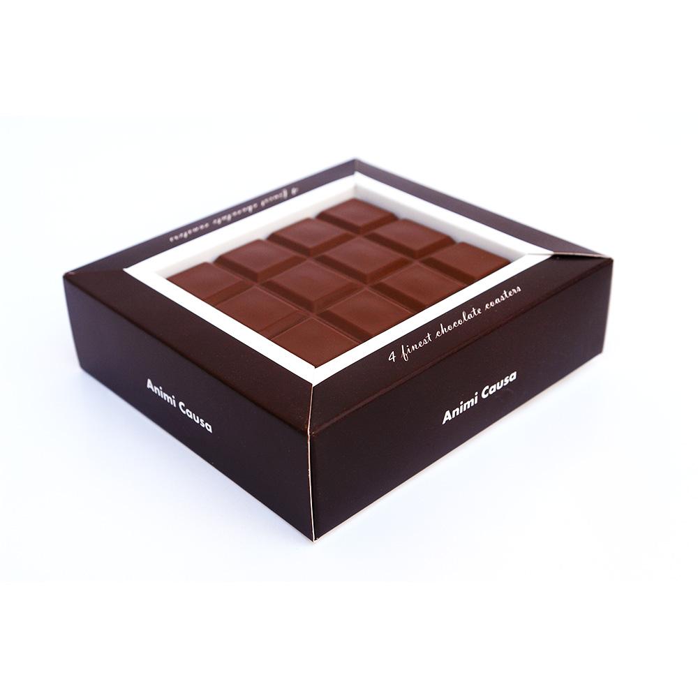 תחתיות לקפה בעיצוב שוקולד