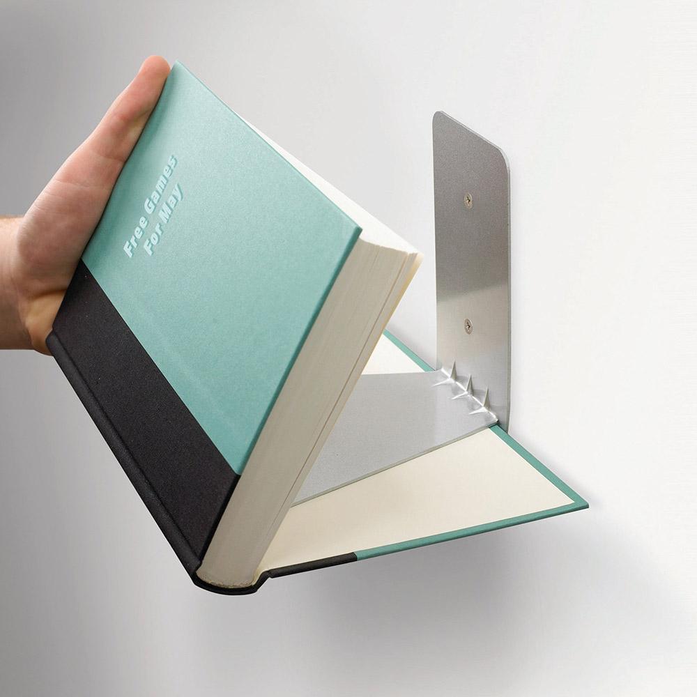 מדף מרחף נסתר לספרים Conceal