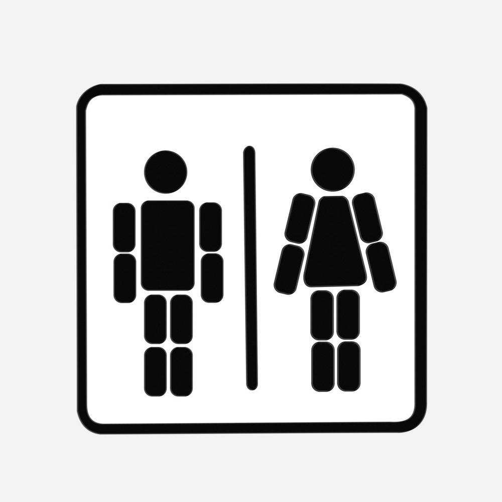 שלט מגנטים לדלת השירותים Ladies & Gentlemen