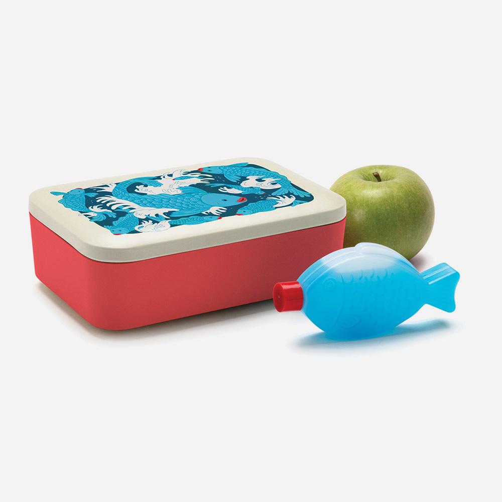 קופסאת אוכל וקרחום דג Good To Go Lunchbox