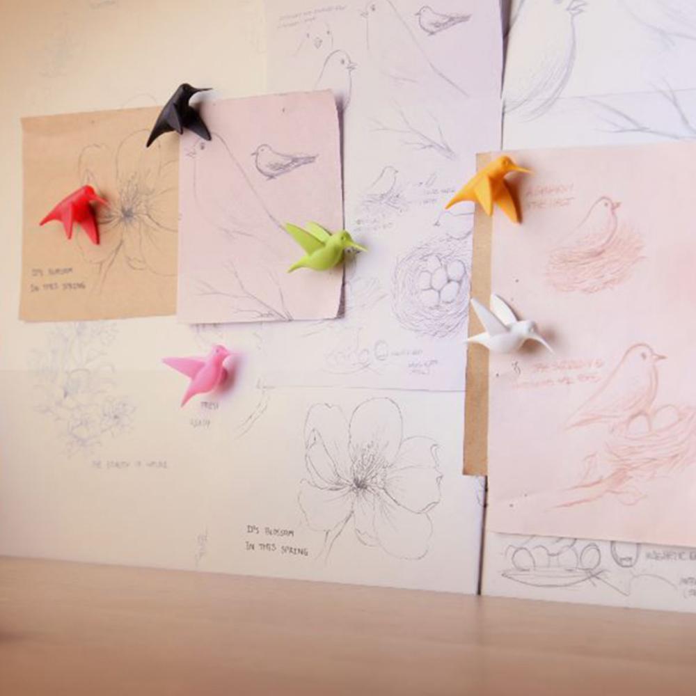 סט 6 מגנטים ציפורים יונק הדבש Hummingbirds