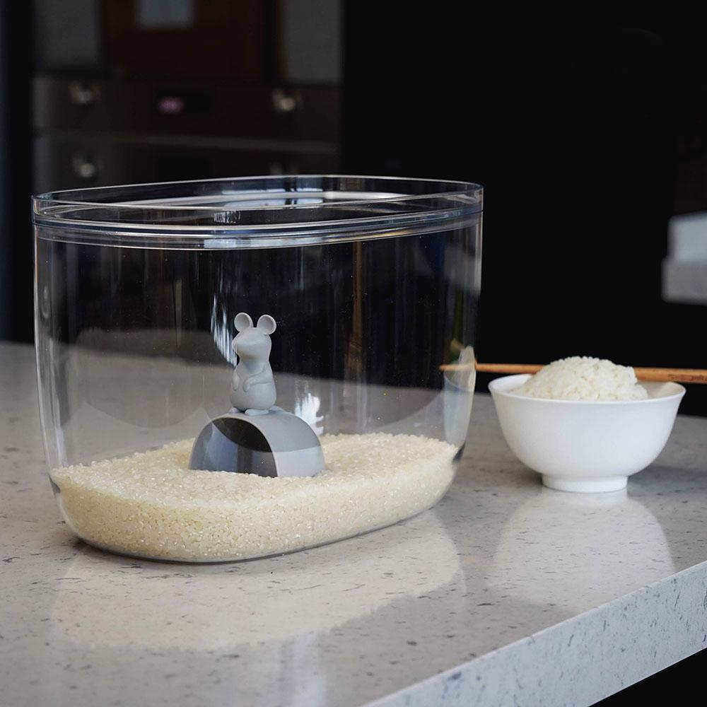 Lucky Mouse מיכל איחסון עם כף מדידה