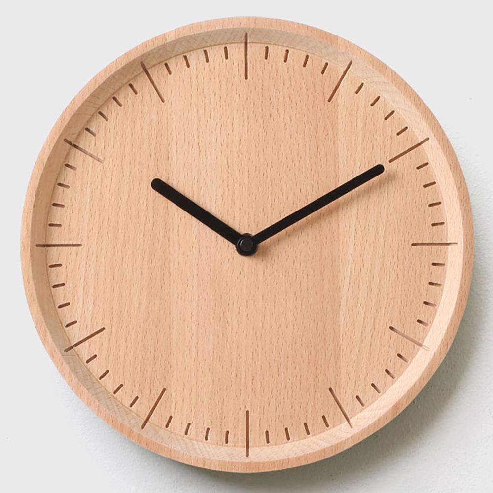 מטר שעון קיר מעץ מלא Meter