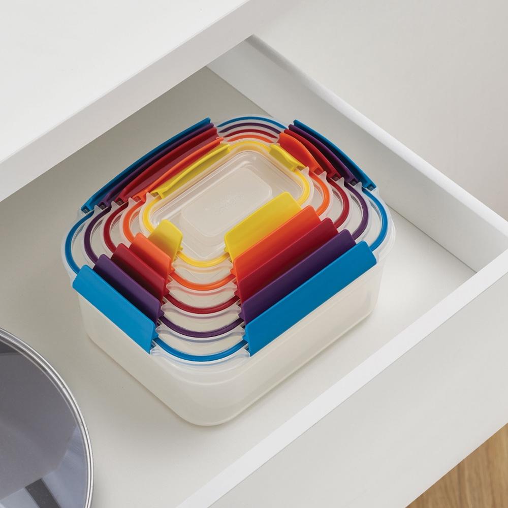 סט 5 קופסאות Nest lock צבעוני