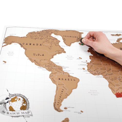 מפת עולם מתגרדת