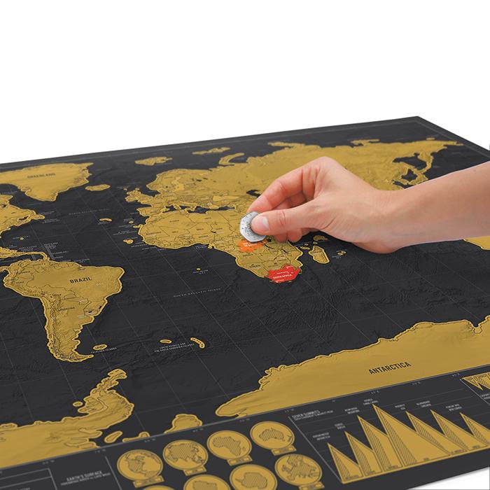 מפת עולם מתגרדת דלוקס