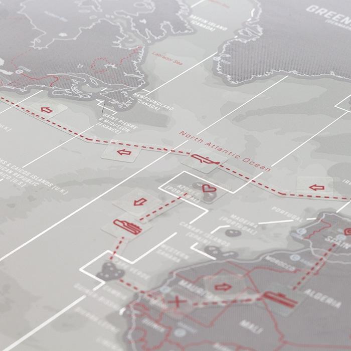 מפת עולם מתגרדת פלטינום