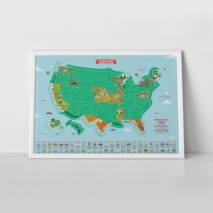 מפת עולם מתגרדת אתרים בארצות הברית