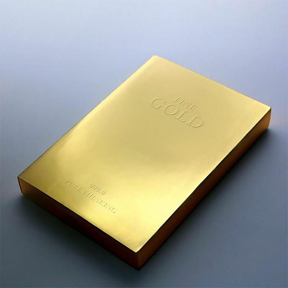 מחברת מעוצבת כמטיל זהב Slab Gold A6