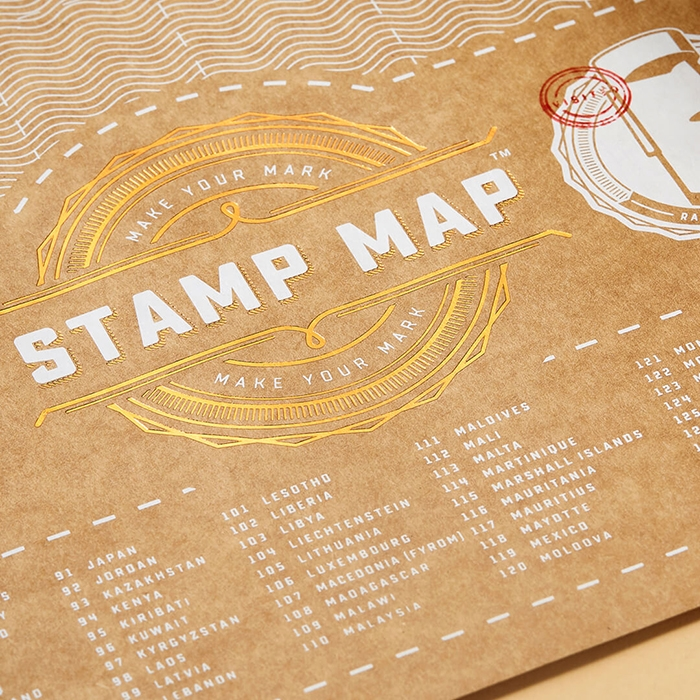 מפת עולם חותמות Stamp Map
