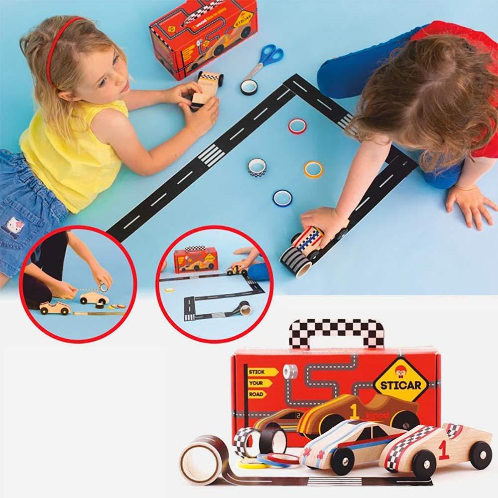 סטיקאר - ערכה להכנת מכוניות מרוץ מעץ
