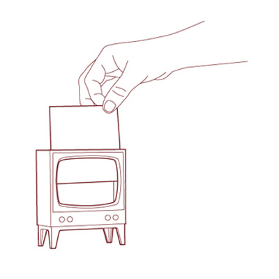 מתקן לפתקיות ממו טלויזיה Telly