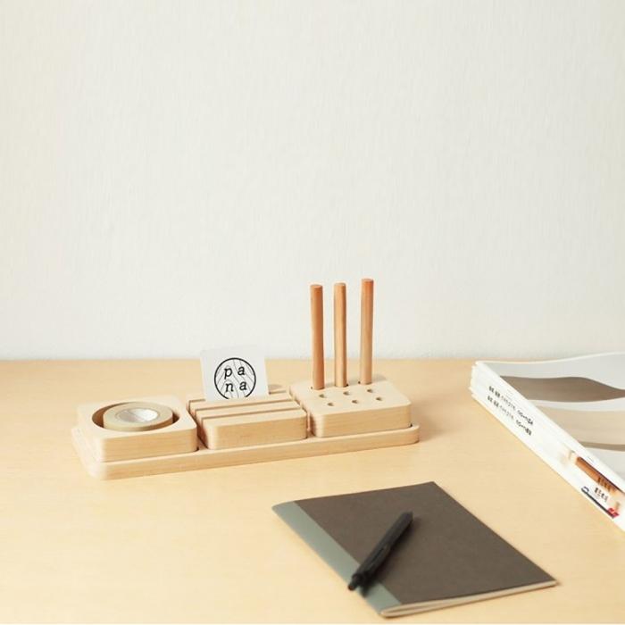 ארגונית משרדית מעץ מלא Tofu