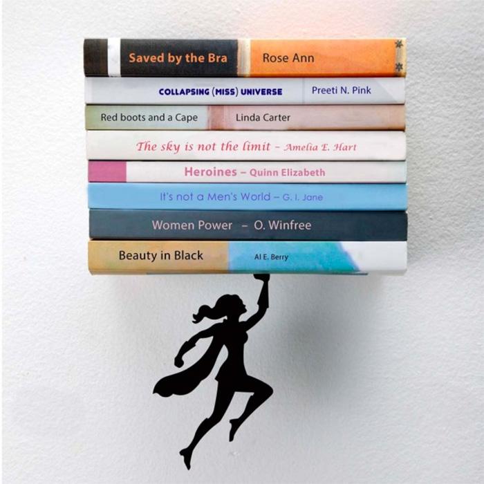 מדף ספרים גיבורת על Wondershelf